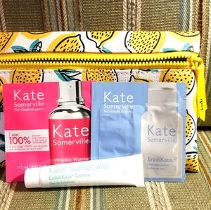 Kate Summerville sample set w Ipsy cosmetics bag